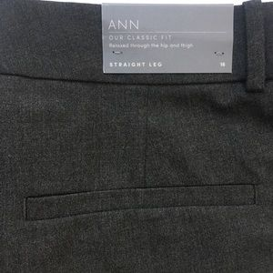 Ann Taylor Pants - ANN TAYLOR Straight Leg Dark Gray Pants Size 16